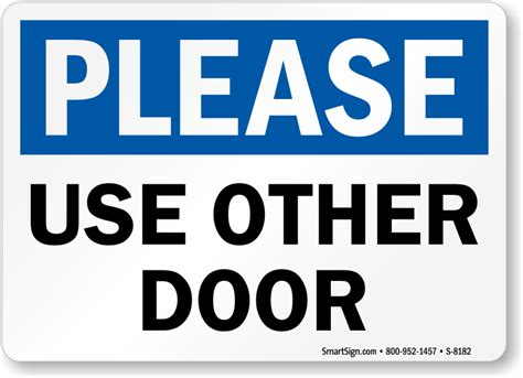 Use Other Door Sign by Use Other Door Signs From Mydoorsign