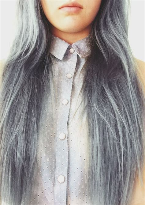 graying blue hair gray hair tumblr head pinterest silver hair my
