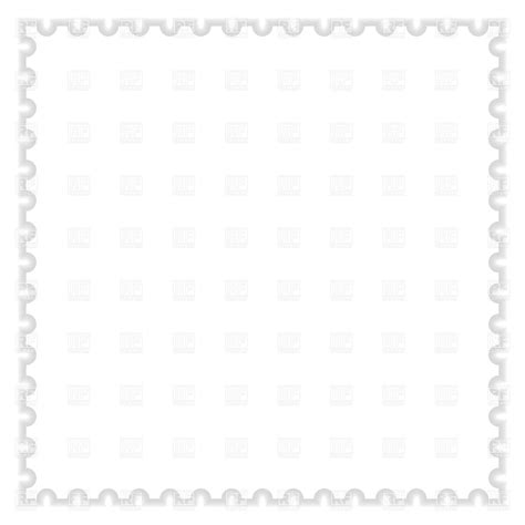 blank white postage st template 12996 borders and