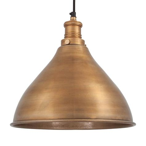 Metal Pendant Lights Vintage Industrial Style Metal Cone Pendant Light Brass 12 Inch