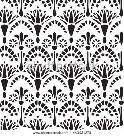 egyptian pattern black and white egyptian vector patterns www pixshark com images