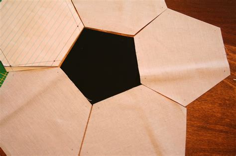 pattern ball shape quilted soccer ball brights on white