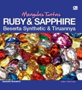 Buku Mengulas Tuntas Ruby Sapphire Cover info buku tentang permata satu permata sejuta pesona