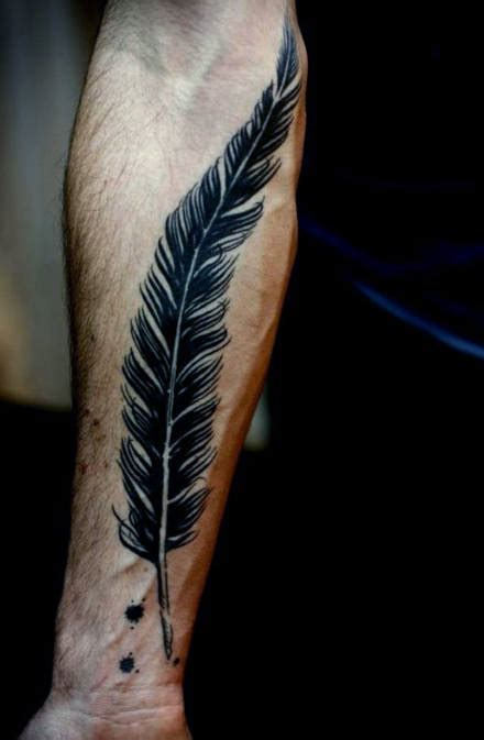 Feather Tattoo Guys | 70 feather tattoo designs for men masculine ink ideas