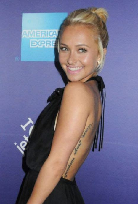 hayden panettiere tattoo hayden panettiere regrets misspelt fail metro news