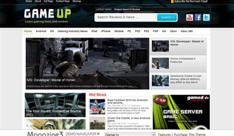 themelock wordpress magazine3 gameup wordpress template 187 themelock com free
