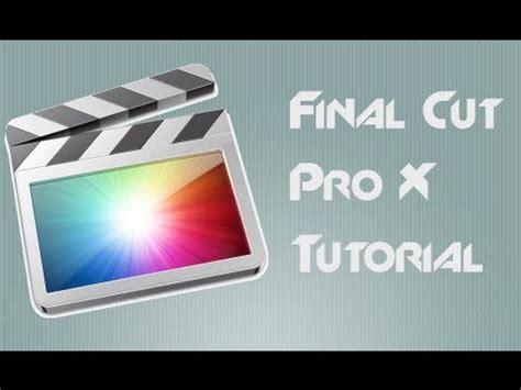 final cut pro youtube video tutorial final cut pro x inserire immagini in un video