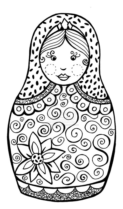 coloring pages matryoshka dolls free russian nesting dolls coloring pages