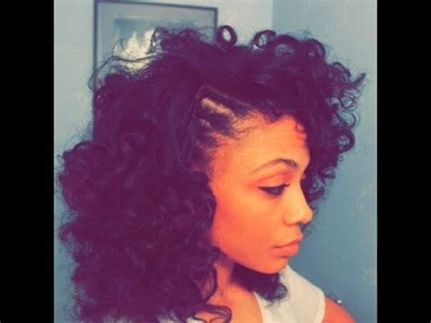 curly fro with braided side youtube