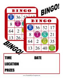bingo flyer template bingo flyer