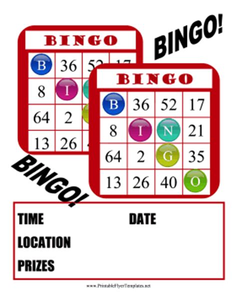 Bingo Flyer Template Free bingo flyer