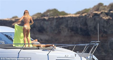 mario gotze boat mario gotze relaxes in ibiza with lingerie model