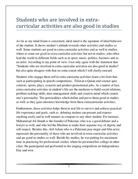 students who are involved in curricular activities are better s