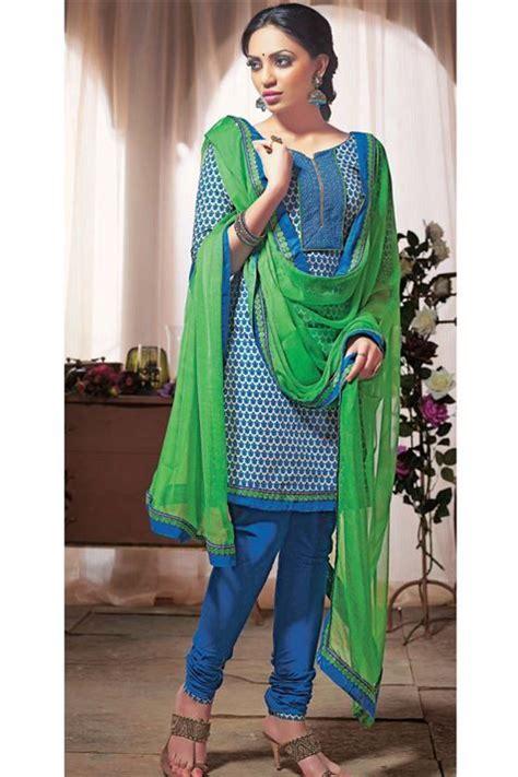 elegant simple wear cotton bluegreen suit hindu