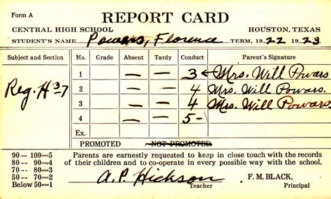 Report Card Up Letter 1 24 Report Cards 187 Letters Of Fred And Florence