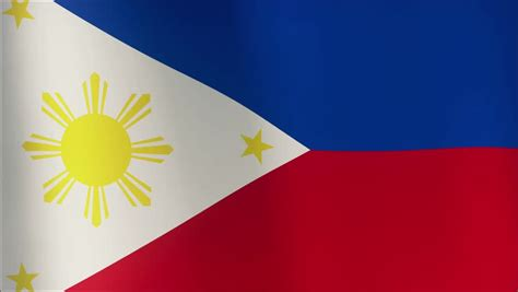 Philippines Flag In The Wind Part Of A Series 4k Stock Philippines National Flag Coloring