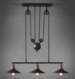 Rustic Pendant Lighting Kitchen Kitchen Adjustable Pulley Pendant L Black Rustic Iron Pendant Lights Dining Room Pulley Light