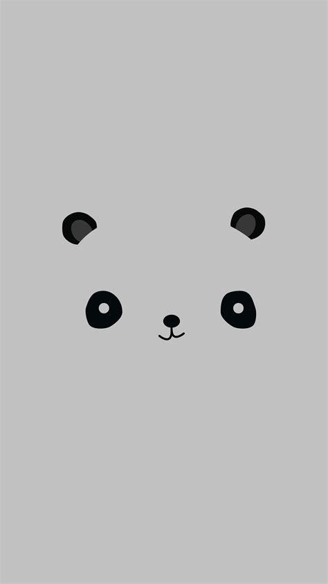 cute minimal panda android wallpaper