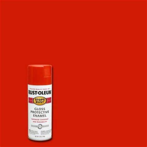 burnt orange paint rust oleum stops rust 12 oz gloss burnt orange protective