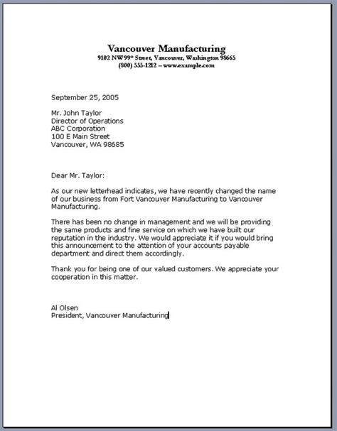 sle business letter format good writing exles