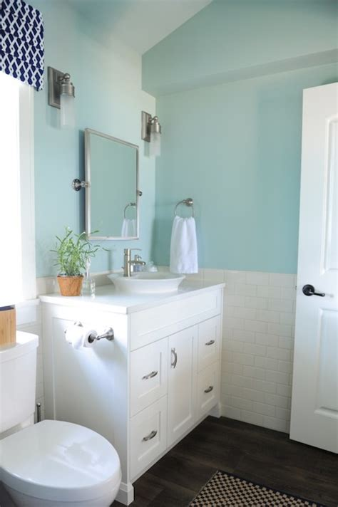 blue bathroom paint colors cottage bathroom benjamin palladian blue killam