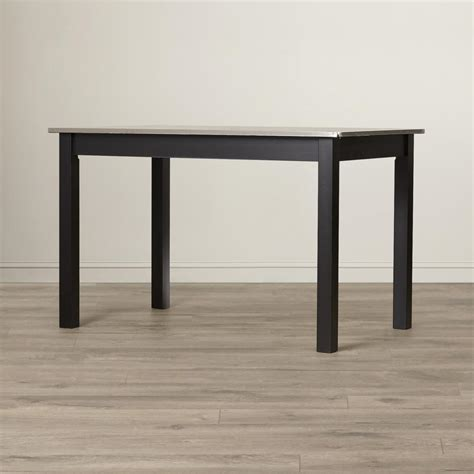 dining table stainless steel top carolina cottage black stainless steel top dining