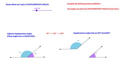 supplementary angles definition supplementary angles definition geogebra