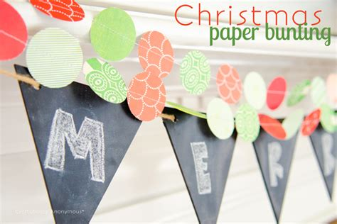 How To Make Paper Bunting Garland - and easy paper garland