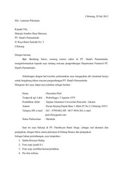5 surat lamaran pekerjaan dalam bahasa inggris contoh lamaran kerja