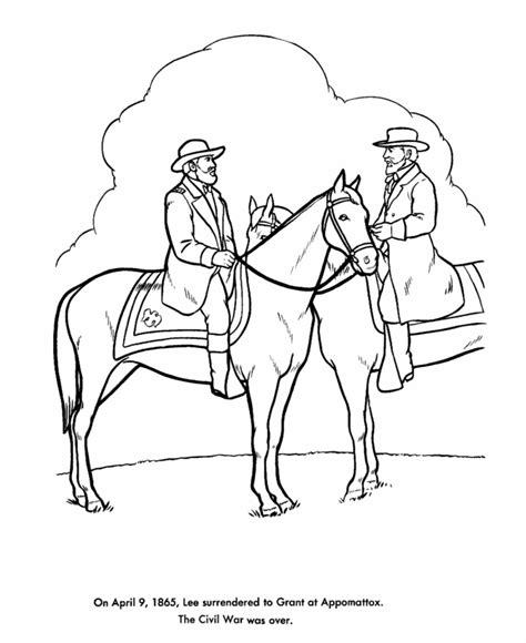 The General Coloring Pages The American Civil War Coloring Pages Us History by The General Coloring Pages