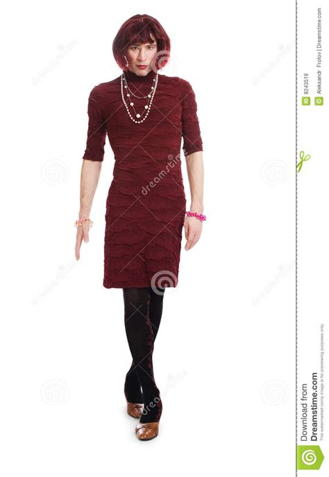 dress husband as a girl a man dressed as a woman royalty free stock images image