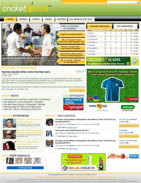 Cricket News Website Template By Baltejsingh On Deviantart News Website Templates