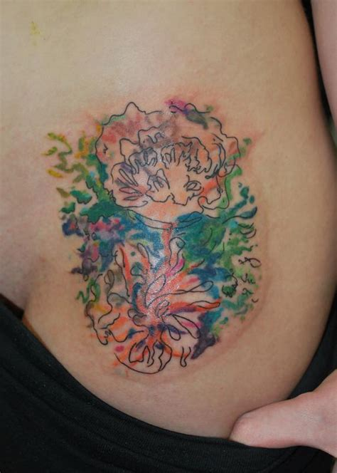 impressionist tattoo abstract floral impressionism by justin mccarty tattoonow