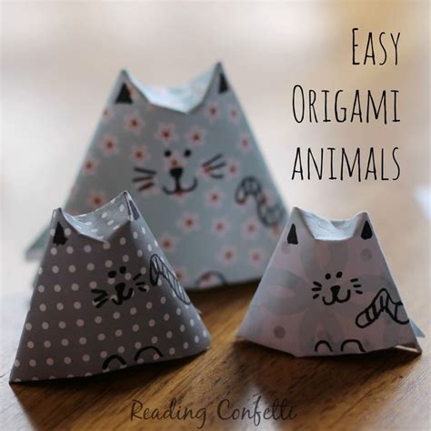 How To Make Animal Paper - 25 best ideas about origami animals on easy