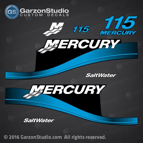 Mercury 115 Hp 2004 Elpto Decal Set Blue 1999 2000 2001