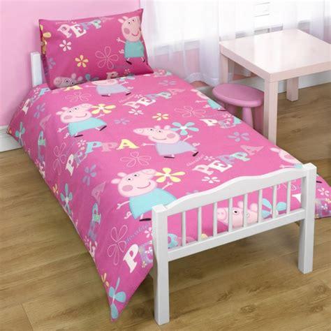 Peppa Pig Bed Set Duvet Childrens Peppa Pig Junior Bed Quilt Duvet Cover Bedding Set