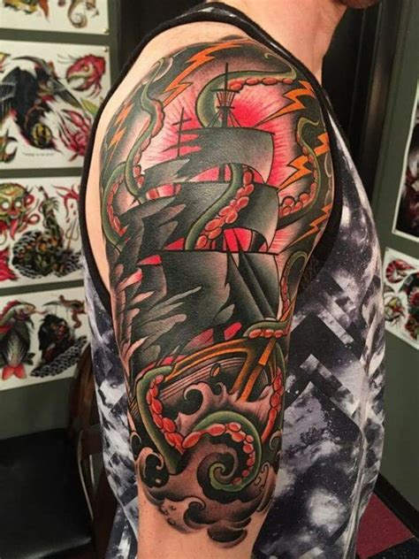 scott marshall tattoos really cool ship by marshall canvas