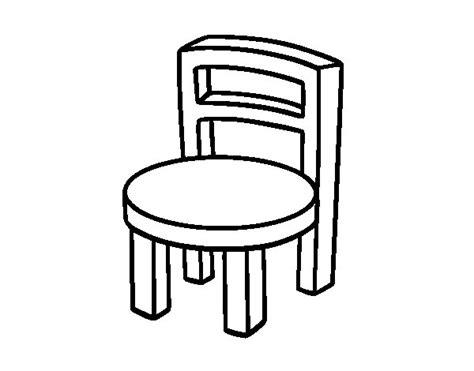 silla dibujo dibujo de silla redonda para colorear dibujos net