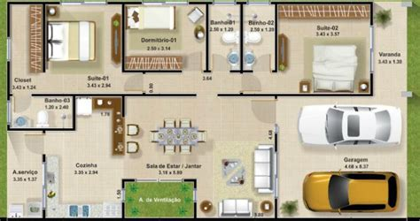 cuanto sale 80metros cuadrados de contrucion casa plano de planta de casa de 3 dormitorios en 127 metros