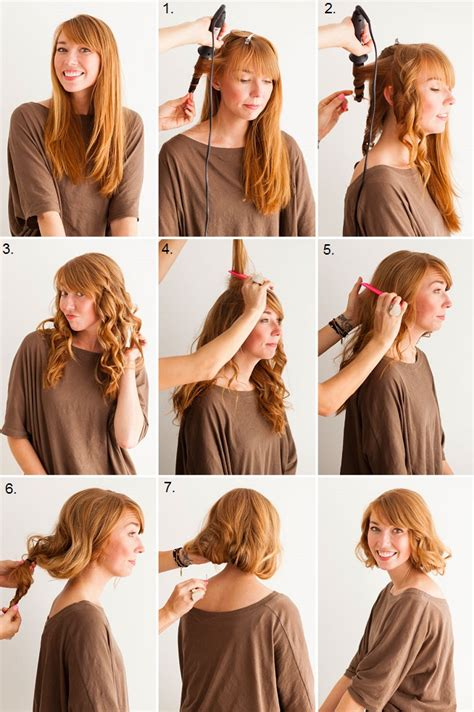 easy long hairstyle how tos how to fake a bob hairstyle if you have a long hair
