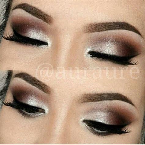 Eyeshadow Brown silver brown smokey eye makeup