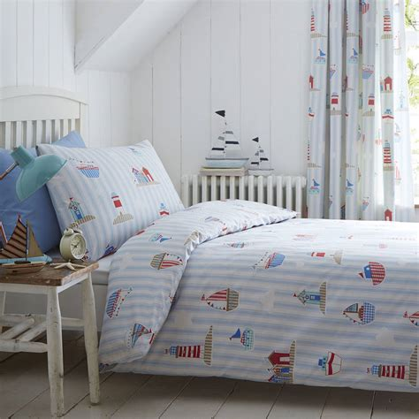 boat bed linen sail on by boys boats cotton duvet set childrens single