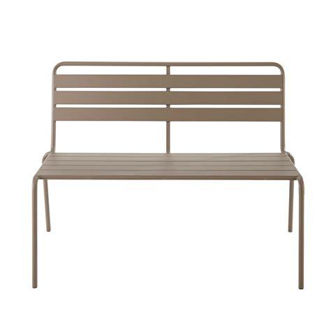 garden bench metal metal garden bench in taupe w 118cm bianca maisons du monde