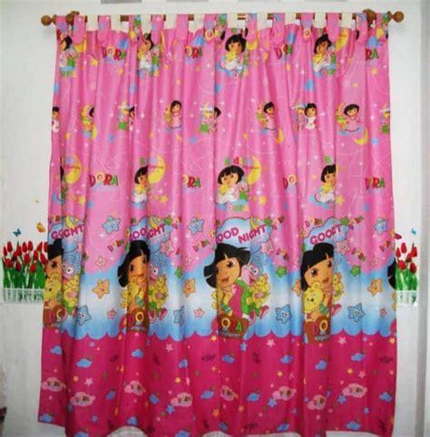 Best Seller Tirai Benang Motif Polos Merah Motif Polos Lebih Tebal pink merah pink gorden murah bagus