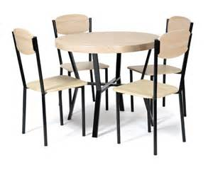 table 4 chaises casa noir chene