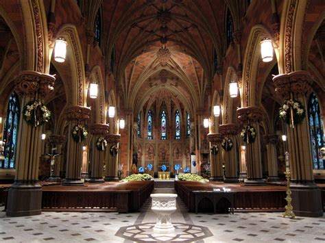 Superb Catholic Churches Near Here #4: Cathedral_of_the_Immaculate_Conception_(Albany,_New_York)_-_Nave,_decorated_for_Christmas.jpg