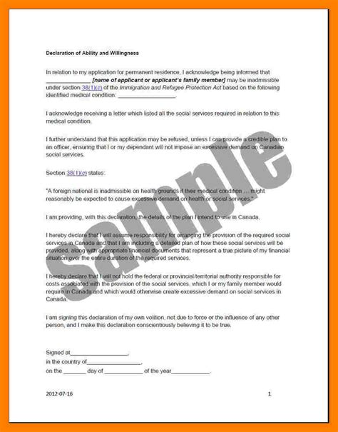 Letter Declaration is declaration required in resume resume ideas