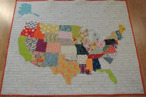 United States Quilt by Us Map Baby Quilt Tutorial Sewn Studio Quilty Goodness