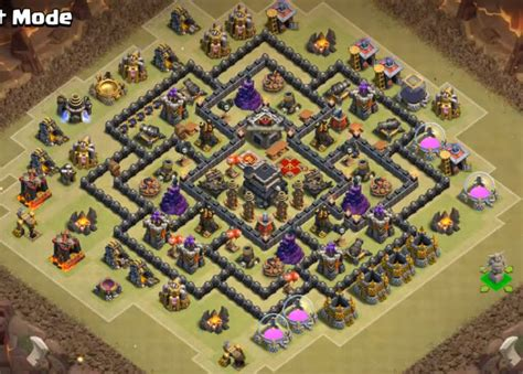 coc layout anti gowipe th8 coc town hall 9 war base anti gowipe new update cocbases