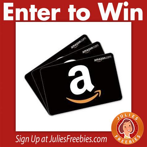 Win A Amazon Gift Card - 3 winners win an amazon gift card julie s freebies